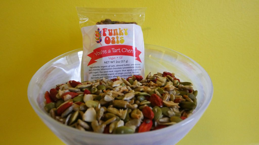 tart, cherry, funky oats, gluten-free, vegan, bar healthy snack